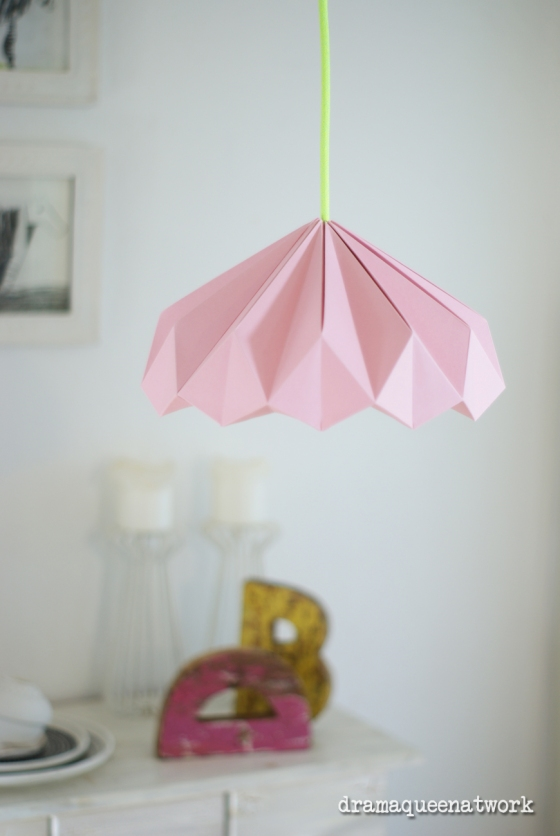 Origami Lampshades - Drama Queen at Work