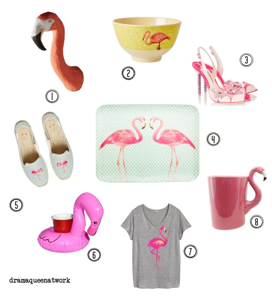 Flamingo collage dramaqueenatwork