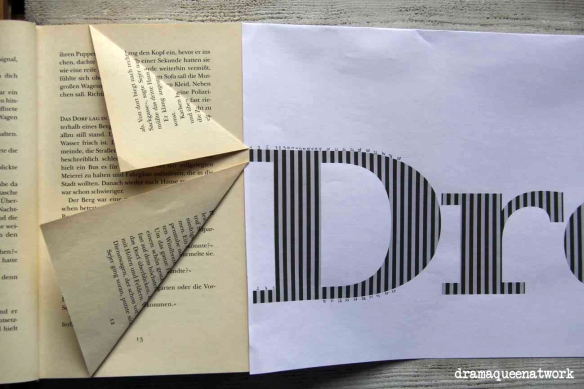 3d Book Art Worter In Bucher Falten Dramaqueenatwork